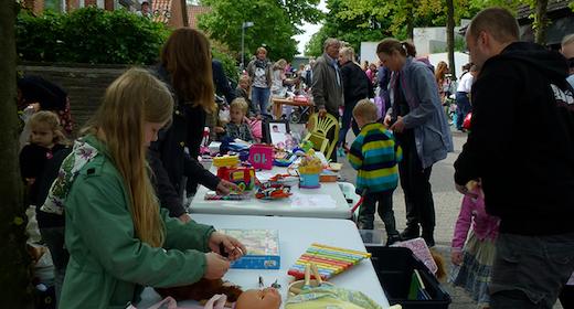 Loppemarked for børn i Måløv