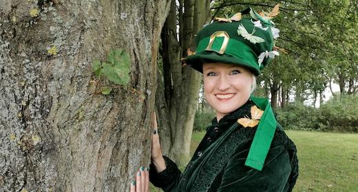 Den grønne skovheks kommer på besøg - UDSOLGT