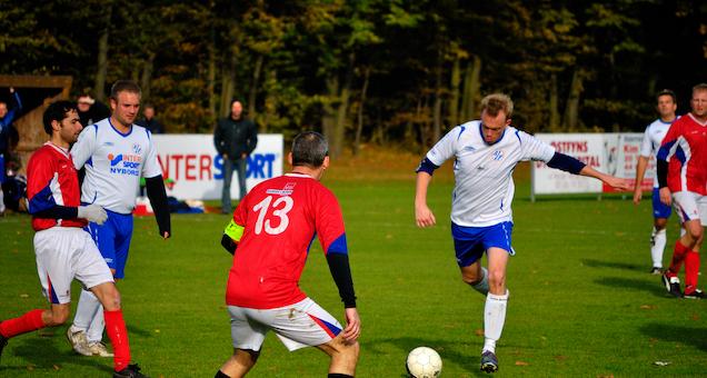 Fodboldkamp Herre-DS 2021-22 Pulje 4 - Odder mod Kjellerup IF