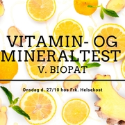 Vitamin- og mineraltest v. biopat hos Frk. Helsekost