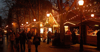 Christmas train to Christmas market in T�nder