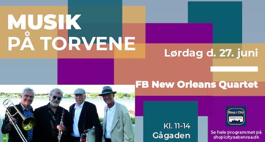 Musik på Torvene - FB New Orleans Quartet