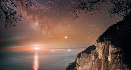 Fuldmånestillevandring og nattesidning i Dark Sky på Møn