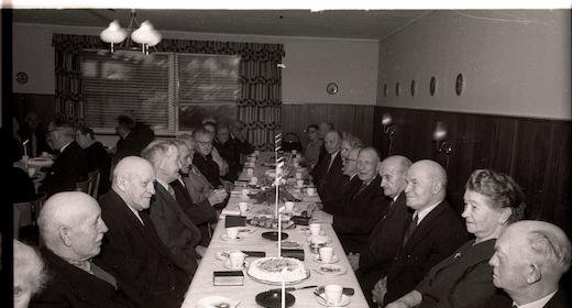 Formiddagskaffebord for pensionister