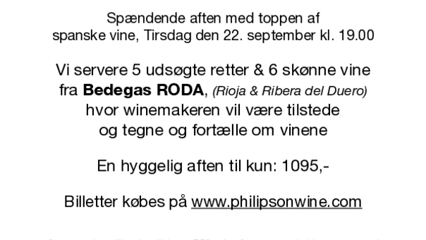 Winemakers Dinner med Bodegas RODA