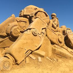 Sandskulpturfestival i Søndervig.