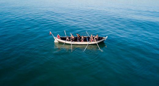 Fladbåden i Tornby søsættes
