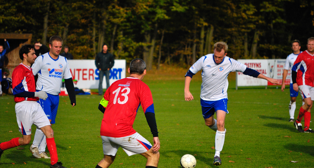 Fodboldkamp Herre DS nedrykningsspil Pulje 1 - KFUM mod IF Skjold Birkerød