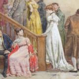 Dans som Miss Bennet og Mr. Darcy