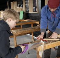 Byg båd værksted på Vikingeskibsmuseet