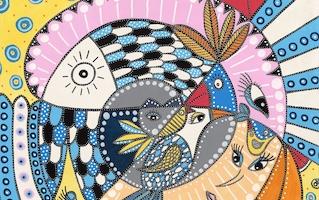 Udstilling med BAKAOS - Et univers af tegnede 'malerier'