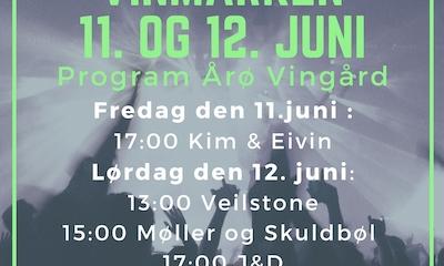 Festival i Vinmarken på Årø Vingård