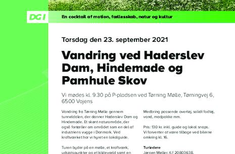 Vandring ved Haderslev Dam, Hindemade og Pamhule skov