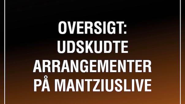 Oversigt: Udskudte arrangementer på MantziusLive (COVID-19 opdatering)