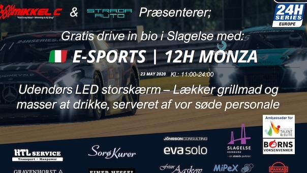 Gratis Drive In Bio: Live fra E-sport 12H Monza