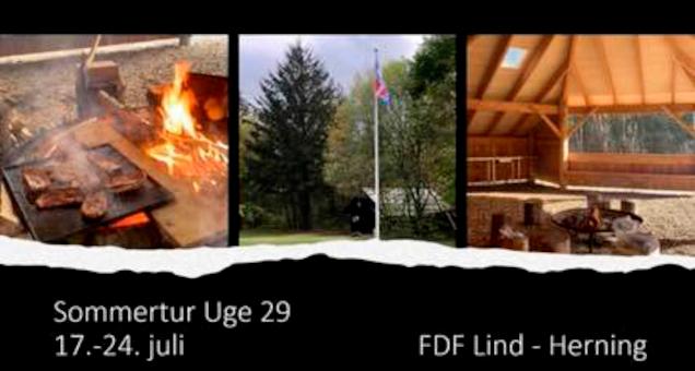 Sommertur går til Grunden Ved FDF Lind ( Ved Herning )