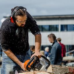 Træskulptur Festival i Ringkøbing.