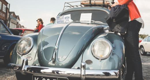 Klassiske biler på Kulturhavn Kronborg